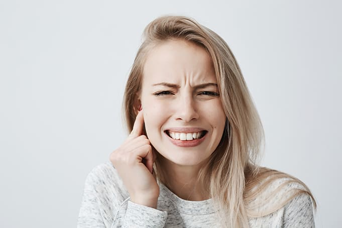 Teeth grinding can cause TMJ pain.