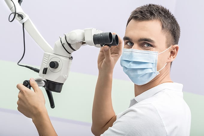 powerful dental microscope for root canal treatment